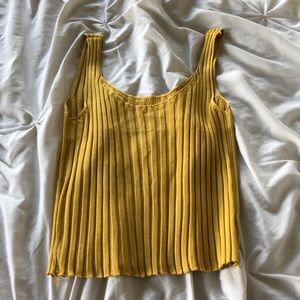 yellow crop top, with straps, never worn.